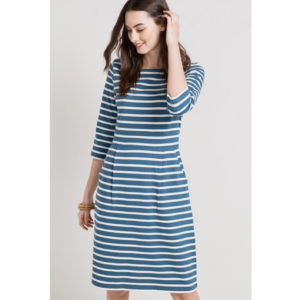 nautical stripy dress made from organic cotton maritimes gestreiftes kleid aus bio-baumwolle seasalt cornwall