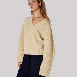 Sabina, Wollpullover im Oversize-Look, in Off-White